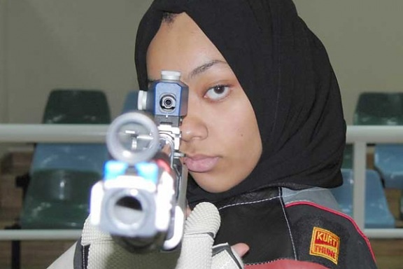 Bahiya Al-Hamad, 19, is aiming for history. The air-rifle shooter will be part of a trio of Qatari female athletes heading to London this year — a first for the tiny Gulf nation. Qatar, like Brunei and Saudi Arabia, has never been represented by women at the Olympics before.