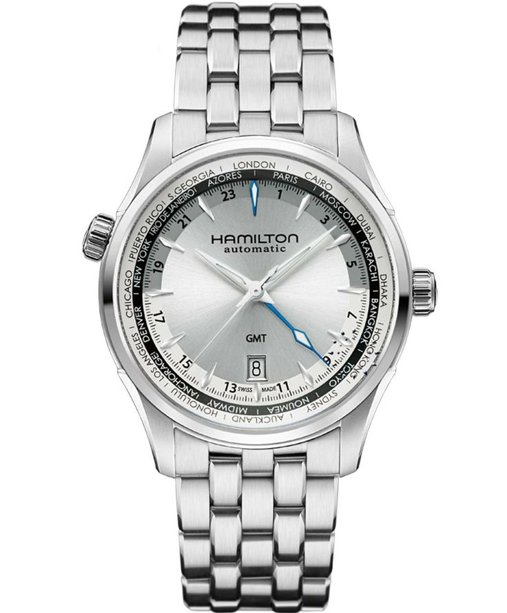 HAMILTON JASSMASTER Automatic GMT Stainless Steel Bracelet Μοντέλο: H32605151 Η τιμή μας: 941€ http://www.oroloi.gr/product_info.php?products_id=38263
