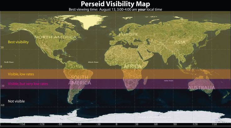 Visibility of the Perseid Meteor Shower of 2016 - I feel Lucky!