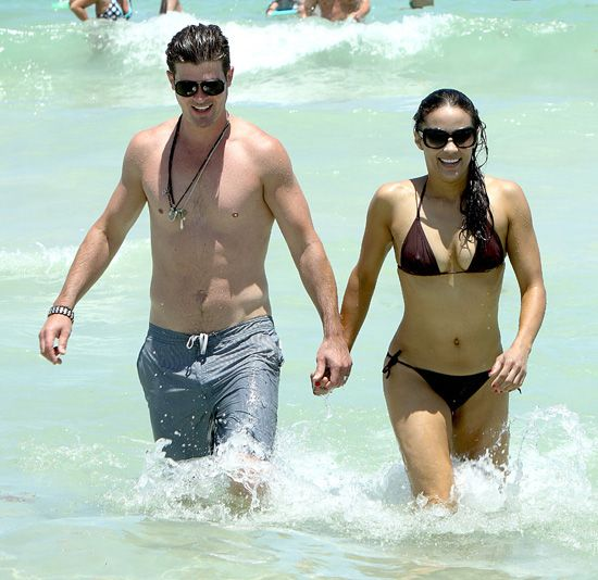 robin thicke and paula patton <3