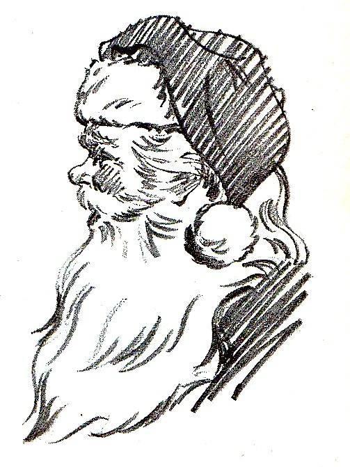 La Bande des Faineantes: Babbo Natale Vintage disegnato / Old drawing of Santa Claus