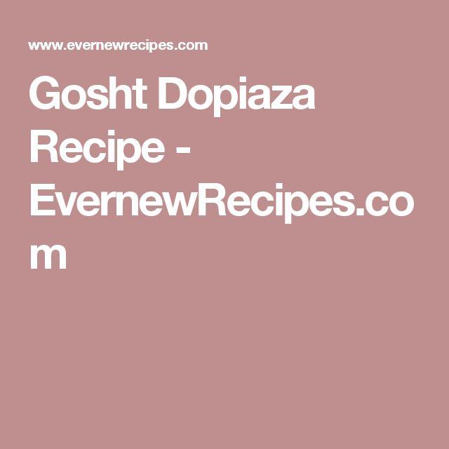 Gosht Dopiaza Recipe - EvernewRecipes.com