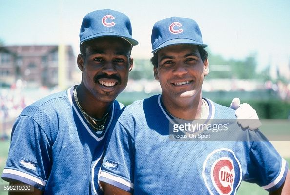 News Photo : Shawon Dunston and Manny Trillo of the Chicago...