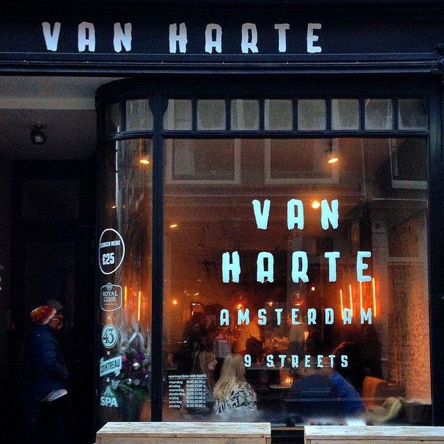 Window paint Restaurant Van Harte | Amsterdam