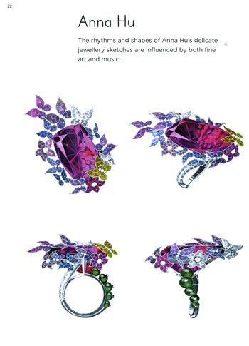Anna Hu from the great book Drawing jewels for fashion! 蝴蝶花海