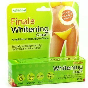 Finale Whitening Cream Bikini Armpit Elbow Nanomed 30g by Finale. $26.50. Finale Whitening cream nanotechnology      Size :  30 grams / 1.05 oz.           Decription :           Helps brightening underarm, groin area. Lightens dark spot while removing dead skin cell gradually within 4 weeks.           High quality natural and botanical ingredients have been carefully blended and specially formulated with skin lightening agents and multivitamin, boost skin clarity...