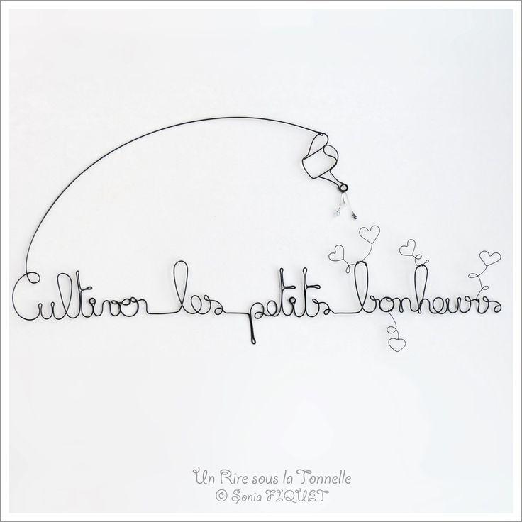 """Décoration fil de fer amour - """"Cultiver les petits bonheurs"""" via Un Rire sous la Tonnelle. Click on the image to see more!"""