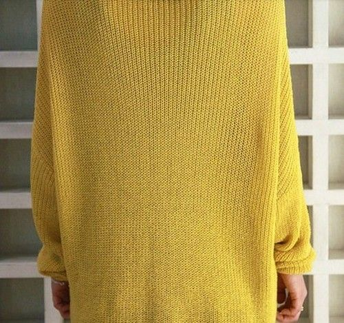 Womens Oversized V Neck Long Sleeve Batwing Knit Sweater Loose Jumper Pullover | eBay