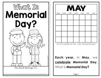 What Is Memorial Day? (A 10-page student reader for primary children) This download teaches students when Memorial Day is observed and explains the history and purpose of the holiday in age-appropriate text. $