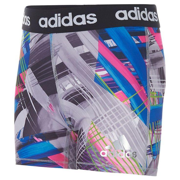 Girls 7-16 Adidas climalite Printed Tight Shorts, Size: Medium, Ovrfl Oth