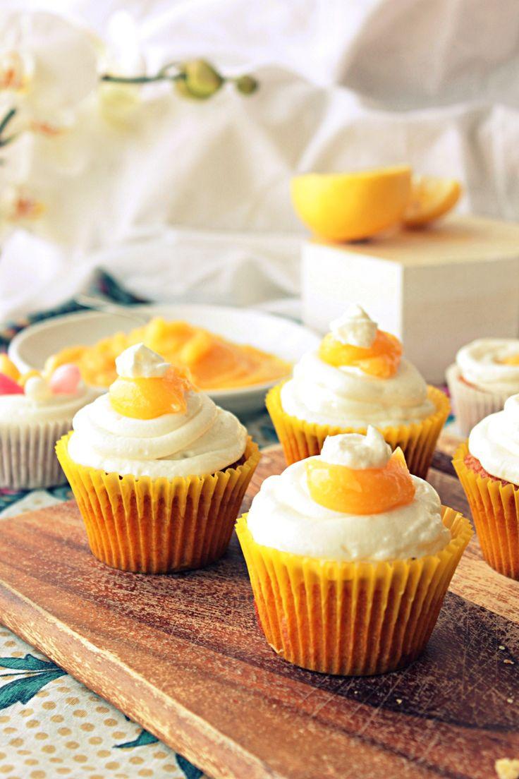 cytrynowe cupcakes z kremem