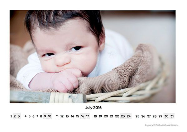 Calendar Design Template Big Photo Landscape