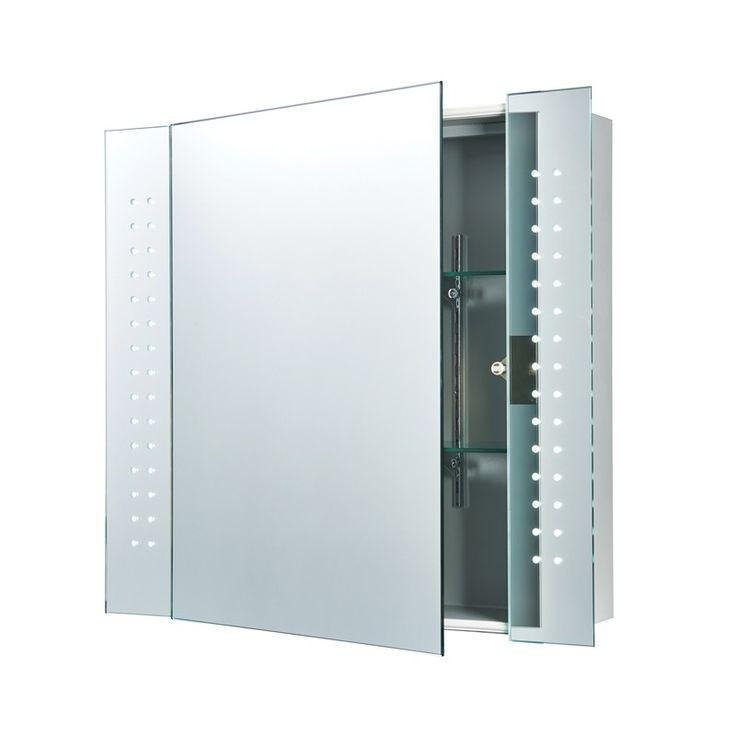 Endon Revelo LED Illuminated Mirror Cabinet with Shaver Socket