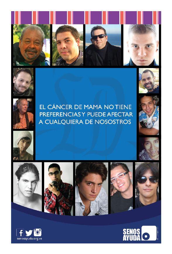 Primera publicidad para la camapaña de concientización sobre el cáncer de mama en los hombres para la organización de SENOSAYUDA