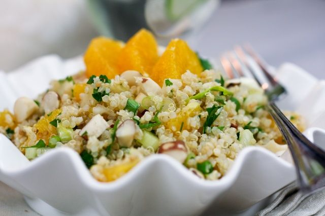 Quick and Easy Quinoa Orange Salad   The Healthy Foodie
