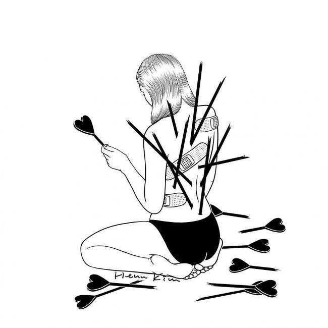 Artista coreano realiza ilustraciones acerca de las dificultades del amor que todo aquel que alguna vez haya tenido una relación entenderá