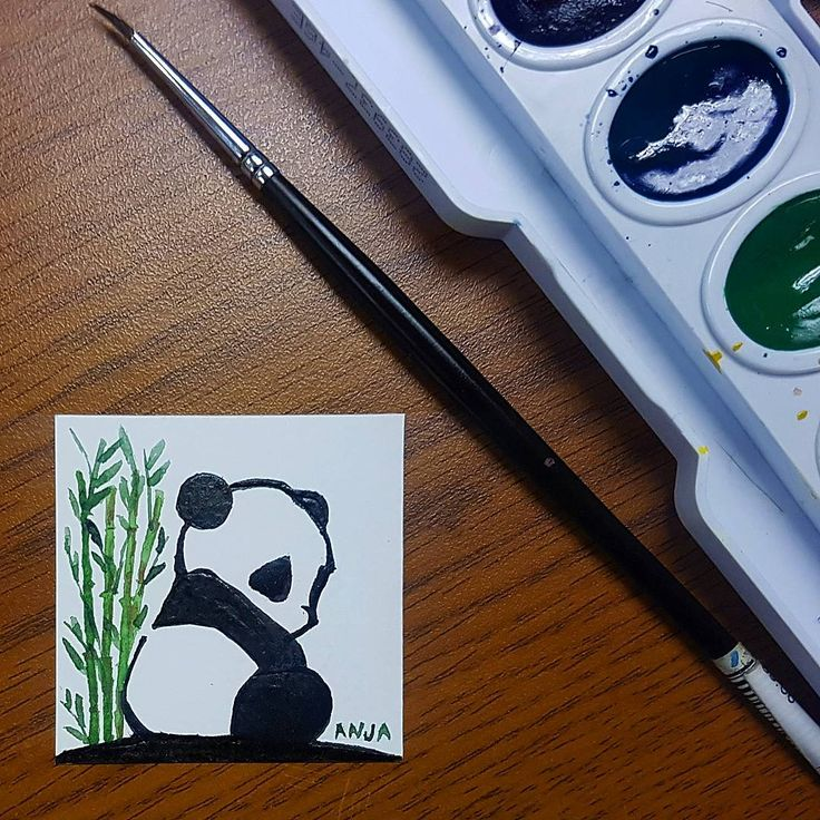 """61 Likes, 11 Comments - Anj Aquino (@artbyanjgaquino) on Instagram: """"Tiny Panda Art by me. Painted this for a friend. 🐼🐼🐼 . . . #art #artlovers #artph #watercolor…"""""""