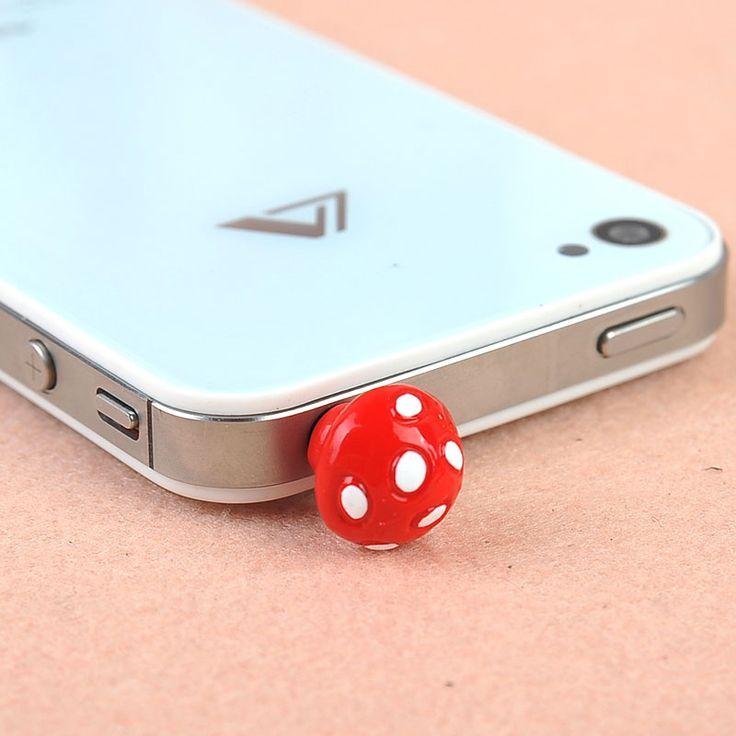 Cute Cartoon Mushroom Anti Dust Plug for Iphone 4/4s/5
