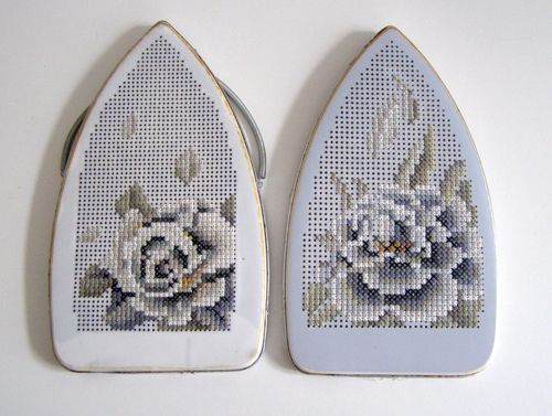 Don't throw away your old irons - embroider them of course.