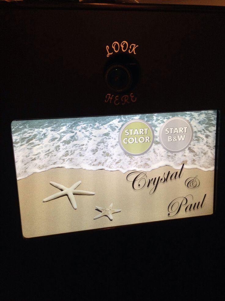 Wedding booth screen