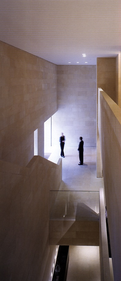 Interior view of the vestibule of the Armani flagship store in London by Claudio Silvestrin.