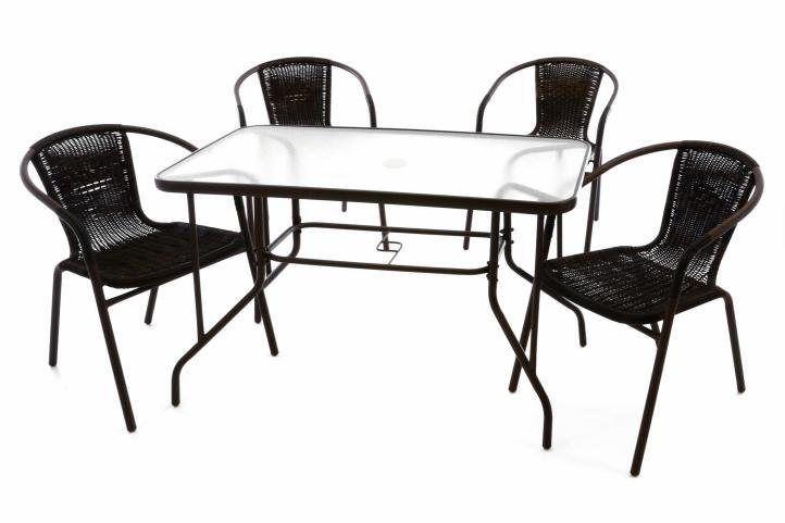 5 Tlg Gartenset Stapelstuhl Und Tisch In 2020 Sitzgruppe