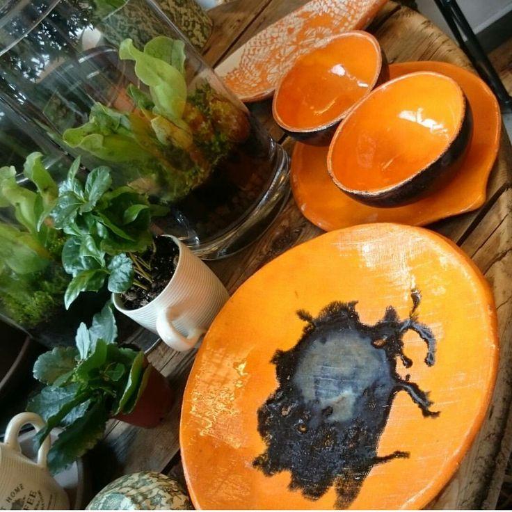 My ceramics in a little flower shop
