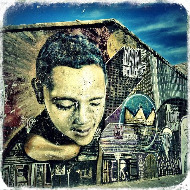 Make me believe.... Woodstock street art, Cape Town