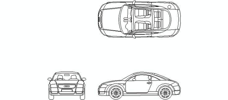 Audi TT, alzados y planta