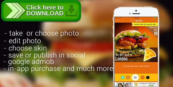 [ThemeForest]Free nulled download Foodgram from http://zippyfile.download/f.php?id=44029 Tags: ecommerce, geolocation, instagram, photo editor, skin, swift3