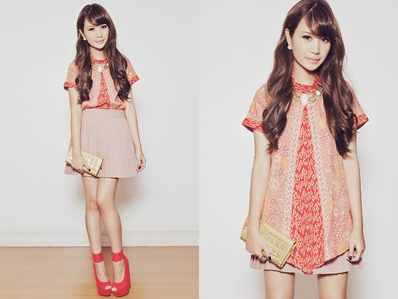 Batik Keris Top, Das Wedges, Soeurs Necklace | 121512 (by Tricia Gosingtian) | LOOKBOOK.nu