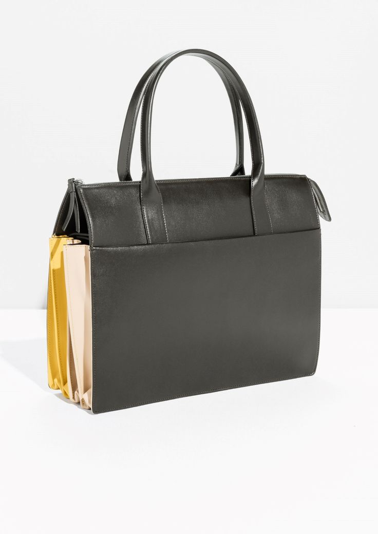 & Other Stories image 1 of Multi Colour Tote in Brown Dark