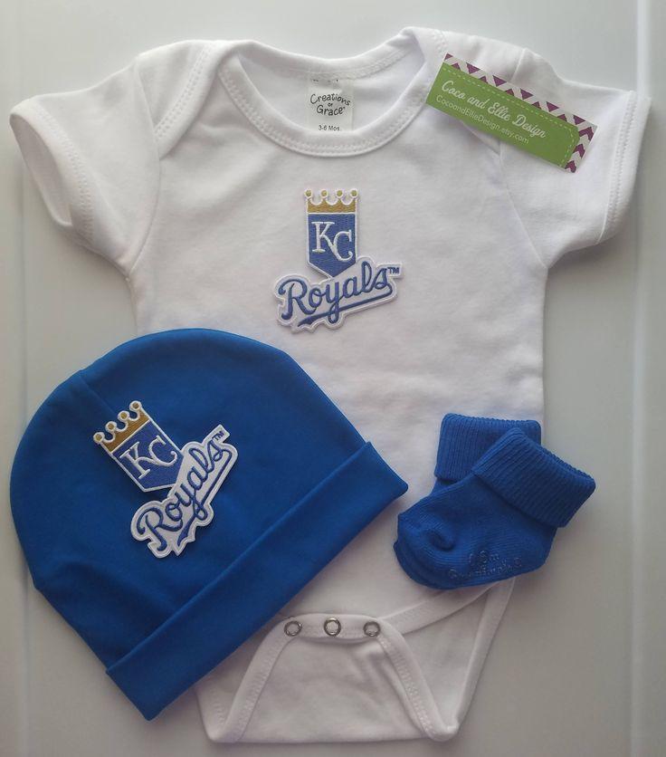 kansas city royals baby boy outfit-kc royals outfit for baby boy-baby boy kc royals-kc royals baseball outfit for baby boy-kc royals romper by CocoandEllieDesign on Etsy