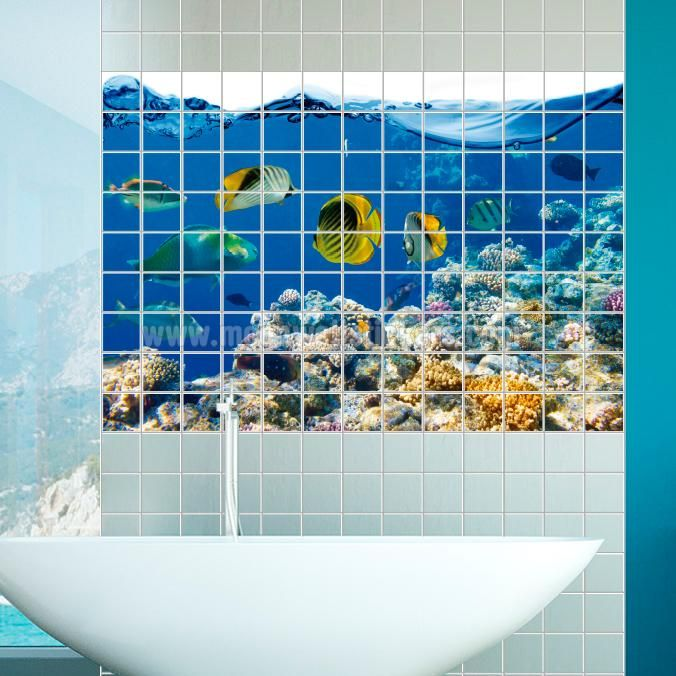 Aquarium Tile Murals If You Are The Kind Of Person That Are Looking For A Piece Of Art In Your Kitchen Tile Wall Or Bathroom Tile Wall Apply This Aquarium