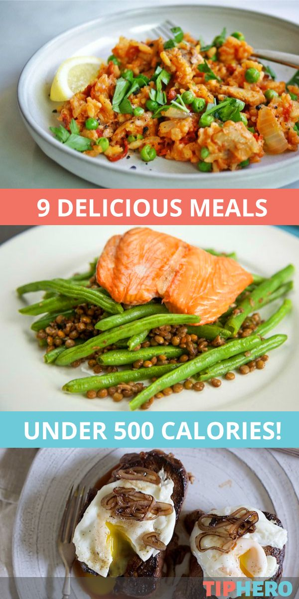 9 Meals Under 500 Calories | Yes, please! Stumped on what to make for dinner that's good for you and tastes great? Look no further than this delicious collection of recipes. From pan-seared steak to paella to spicy shrimp lettuce cups to black bean chili, there is something for everyone! #dinner #family #healthycooking