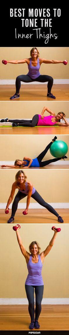 16 Übungen für die inneren Oberschenkel-Muskeln! #workout #fitness #tone