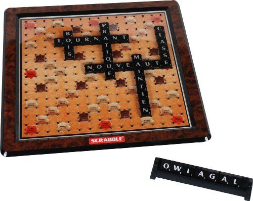 mattel n7862 jeu de soci t scrabble de luxe scrabble lettres scrabble et jeux de soci t. Black Bedroom Furniture Sets. Home Design Ideas