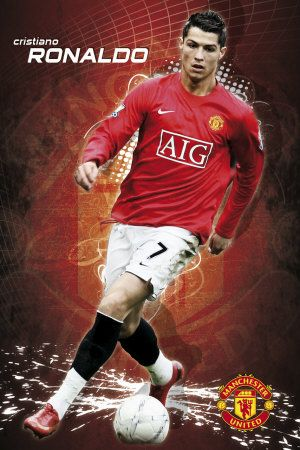 Cristiano Ronaldo  Manchester United Poster -  Love United? Join the Mancheter United Quiz - Group Board