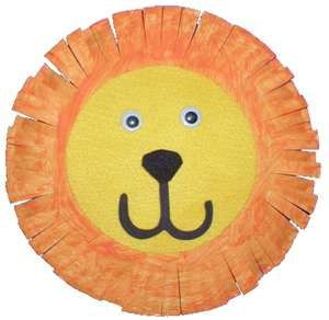 Paper Plate Lion Art Project