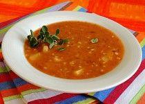Česneková polévka s pohankou
