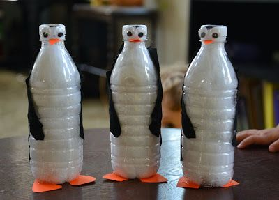 A school of fish: Penguin Unit and water bottle penguins