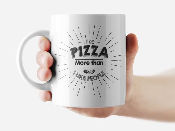 I like pizza more than I like pizza Mug Funny Rude Quote Coffee Mug Cup Q365 #Handmade