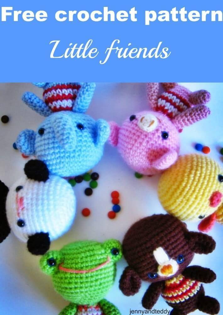 Little Friends Free Amigurumi Crochet Pattern By Jennyandteddy