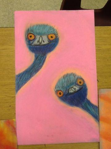 Mrs. Anderson's Art Blog: Edward and Edwina the Australian Emus