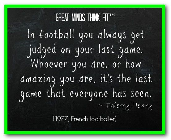 Famous #Football #Quote by Thierry Henry