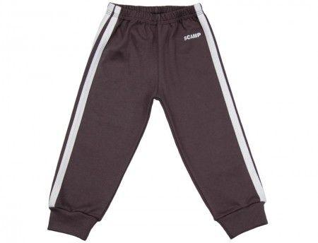 Pantalonaşi cu elastic în talie negru grafit-alb 100% bumbac | Cod produs: NIG045
