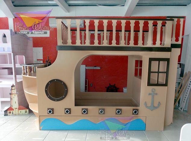 litera para tres camas estilo barco pirata a navegar y a disfrutar con ellos barco litera cama u