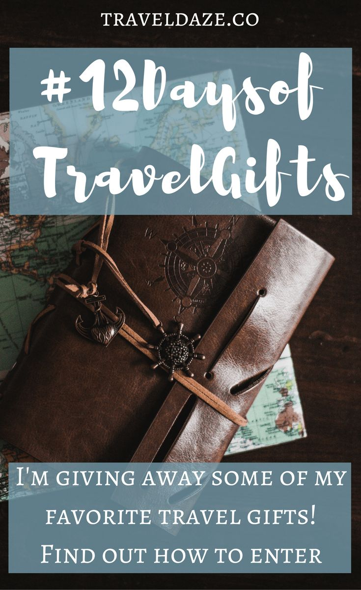 Follow @TravelDazeco on Twitter to enter to win some of my favorite travel gifts! #travel #giftguide #travelgifts