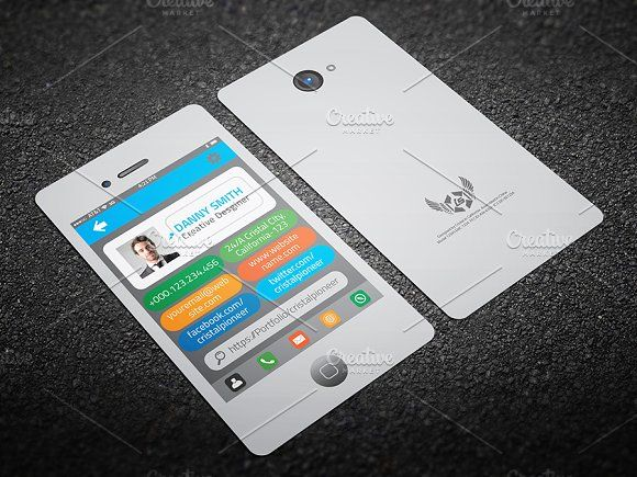 12 best digital business card images on pinterest infographic iphone style business card wajeb Images