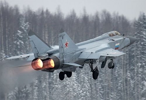 MiG-31 Foxhound was a Russian short range high altitude interceptor, built to take down the SR-71.
